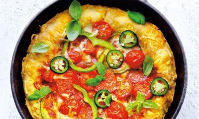 Recept voor panpizza met mozzarella en jalapeñopeper