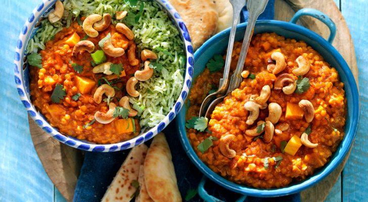 Recept voor tikka masala met rode linzen