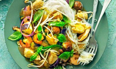 Recept voor tjaptjoi met kip en garnalen