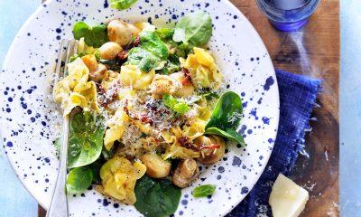 Recept voor tortellini met spinazie en kaassaus