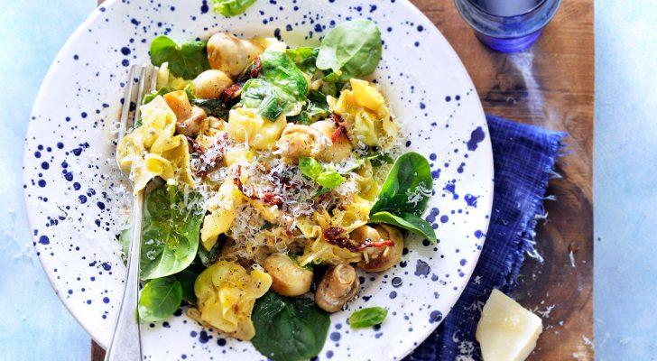 recept tortellini spinazie