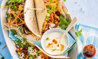 Recept voor Mexicaanse bonenschotel in een tortilla