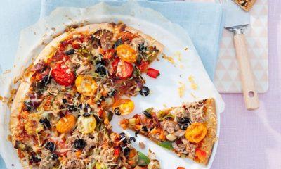 Slank recept: tonijnpizza met Italiaanse groenten