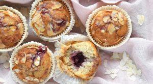 Recept voor amandel-frambozenmuffins van Laura's Bakery