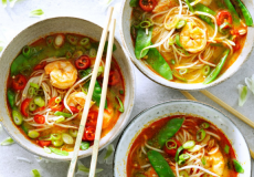 Recept voor noedelsoep met garnalen