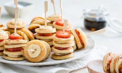 Recept voor mini-pannekoekjes met fruit