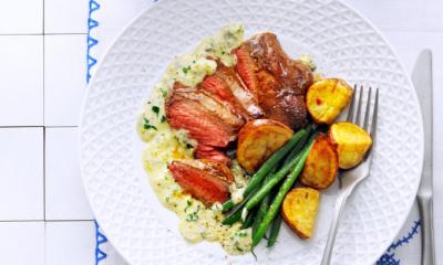 Recept voor biefstuk met roquefortsaus