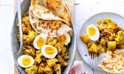Recept voor roti met bloemkool en kip