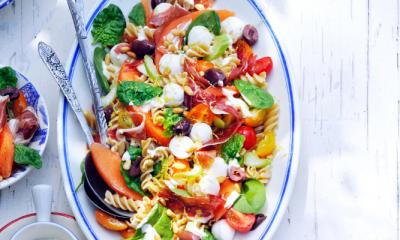 Recept voor pastasalade met meloen en rauwe ham