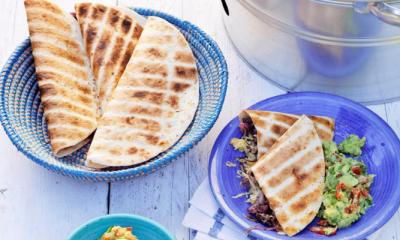 Recept voor vegetarische quesadilla's met guacamole