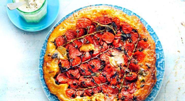 tarte tartin met tomaten