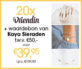 20x Vriendin + waardebon van Kaya Sieraden